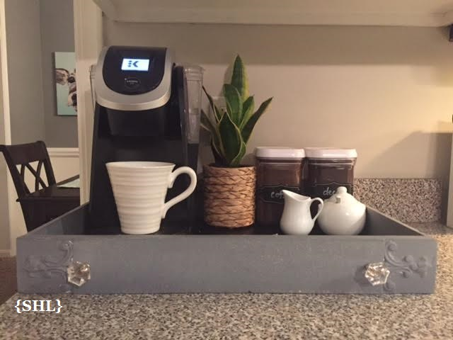 easy DIY coffee tray project