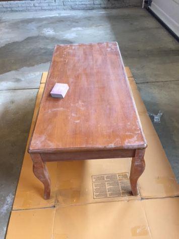 coffee table sanding 2